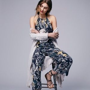 49a1a27b01a8 Free People Twisted Floral Halter Jumpsuit